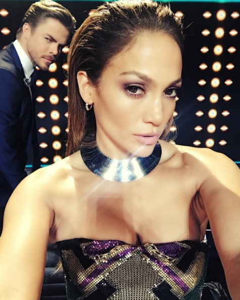 """@jlo photobombing my photo, again!! #worldofdance #WOD"" - February 19, 2017 Courtesy derekhough IG"