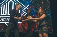"""Los Angeles, CA / That awesome moment when you hand @derekhough his award on stage, and @digitalsbyalex captures it perfectly. And of course, shoutout to the best emcee and my great friend, @rickycole_mwc! Always a pleasure working with you. 💛 This was such a great night! - February 7, 2017 Courtesy freshncolleen IG"
