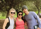 """""""A Hough Sandwhich❤️, Loved Hiking With These Two, Made It The Best Half Birthday💕"""" - February 11, 2017 Courtesy gforguissel IG"""
