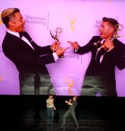 """Absolutely spectacular Celebration of the Choreographer @nopenother @derekhough @traviswall @NAPPYTABS @TelevisionAcad"" - February 16, 2017 Courtesy jeffgreenbergcd twitter"