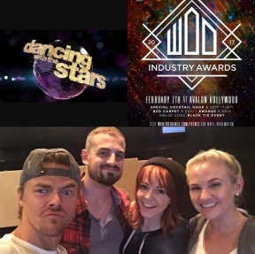 """""""I am SO honored!!!!!! Can't believe my work was nominated for a @worldofdance Award as a contributing choreographer for """"Best live performance on tv"""" on @dancingabc with @derekhough @lindseystirling @mariepoppinsdancer and @ekfedosova !!!!!!!! AND remember that little tap bit we did for Derek on @goodmorningamerica under the direction of @nappytabs ???? That was ALSO NOMINATED!!!!!!!! I am so honored and could never have done this without the support of my amazing agency @go2talent AND thank you to @derekhough for putting so much #tapontv this year!!!!"""" - February 5, 2017"""