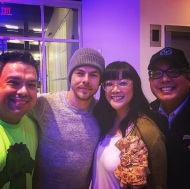 """Me and Derek Hough and Viviane Be and @davidschatanoff. #TVAcademy #WhoseDanceIsItAnyway #DWTS"" - February 16, 2017 Courtesy lanewbie99 IG"