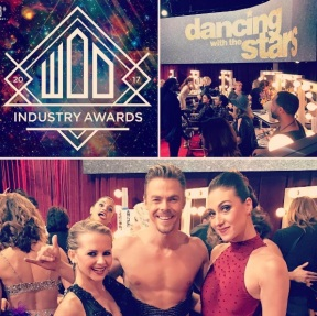 """""""I am beyond excited that my work was nominated for a @worldofdance Award as being a contributing choreographer for """"Best Live Performance on Live TV"""" on @dancingabc for @derekhough piece #Kairos. Other co-choreographers @kelseymccowan and @ekfedosova. Special thanks to @derekhough for incorporating my work, his piece was amazing!! #wod #abc #awards"""" - February 5, 2017 Courtesy mariepoppinsdancer IG"""