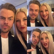 """Love this guy so much! @derekhough #brothersisterlove #goofballs"" - February 26, 2017 Courtesy shareewise IG"