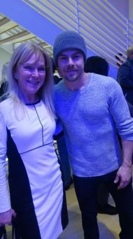"""Honored to meet @DerekHough at the Television Academy's latest event. He danced for us. Talented and so gracious w/fans; must be exhausting!"" - February 16, 2017 Courtesy stephstephens twitter"