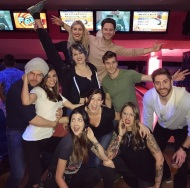 """Striking bunch 🎳 #Iwon #okicamesecond"" - February 18, 2017 Courtesy theemmaslater IG"