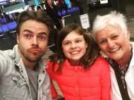 """My mom and jada just met the sweetest celebrity!!!! He was so awesome- thanks for being 😎 and taking some photos with some major fans! #derekhough #dancingwithstars #downtoearth #universalstudios #happyhough05"" - February 21, 2017 Courtesy thevaughntrapps IG"