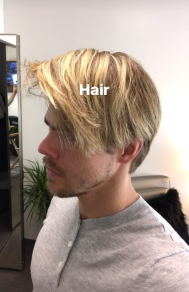 Derek and his hair on February 4, 2017 Courtesy derekhough IG