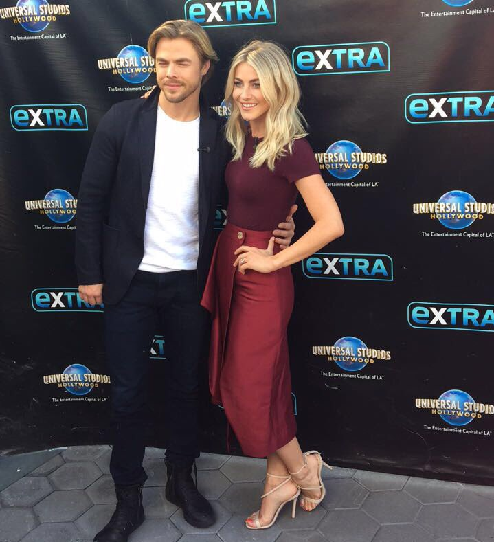 HQ Pictures: Derek & Julianne Hough on Extra to promote ...