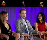 "Derek, Jennifer and Jenna during the ""World of Dance"" panel for NBC Press Day - March 20, 2017 Courtesy jennaldewan IG"