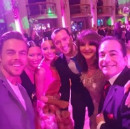 """""""Thank you to Derek for taking time out of his busy Move tour rehearsals to support The Royal Ball. I felt blessed. He added fun Charm and lots of hugs and smiles shared with all who attended."""" - March 18, 2017 Courtesy shirley ballas Facebook"""