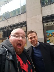 """Normal Day in NYC.....Just Hanging w/ @derekhough from @DancingABC & #MoveBeyond @RadioCity Taking Pics Shooting the Shit ya know Normal Day"" - March 21, 2017 Courtesy UncleEddie13 twitter"