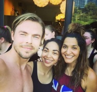 """Another great sweaty workout with @derekhough @juleshough @kristysowin AT @corepoweryoga Thank you guys for Changing people's lives....including ours! 💗💗💗💗💗 #moveinteractive #Derekhough #juleshough #corepoweryoga"" - March 11, 2017 Courtesy vanesscoleman IG"