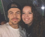 """Met him again, two years later... he is so beautiful and kind😭 honestly the greatest person I've met & I'm so blessed to have seen him and @juleshough ❤ so talented I love you both! One of the best shows I've seen 🙏🏼 @derekhough #movebeyond #derekhough"" - Move Beyond - Detroit, Michigan - April 23, 2017 Courtesy officialdragana IG"