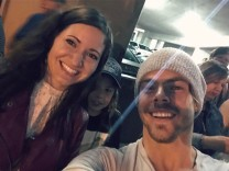 """""""Such an amazing show! Can't believe I got to meet this guy! 😊#movelive #movebeyond #dance #amazing #selfie #frizzyhairdontcare #storms #columbus #ohio #palacetheatre @moveliveontour"""" courtesy kaitguarnera ig"""