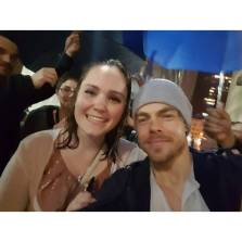 """Standing in the pouring rain for 45 minutes was completly worth it since I got to meet THE ONE AND ONLY DEREK HOUGH❤❤❤"" courtesy maddkbrimmer ig"