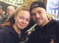 """Can't thank these two enough for putting on such an amazing show tonight and for continuing to inspire me each and every day. The talent and passion you both have is truly amazing. I can't even begin to put into words what it meant to me to be able to meet you both again. Thanks for making tonight part of yet another unforgettable day. @derekhough @juleshough #movebeyond#moveliveontour"" - Move Beyond - Albany, New York - April 25, 2017 Courtesy _samantha5678_ IG"