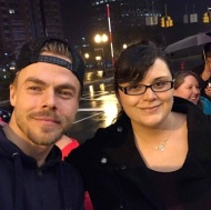 """I just met Derek Hough a couple of hours ago and we actually had a conversation. He's very sweet and humble. He was kinda shy too but that's okay. #movebeyond #moveliveontour #derekhough"" - Move Beyond - Albany, New York - April 25, 2017 Courtesy alyssabriaxo IG"