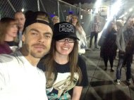 """Ahhhhh! Got to meet @derekhough once again!😍 I've looked up to you for basically my whole life! You've made me the person I am today💛Love U😊"" - Move Beyond - Detroit, Michigan - April 23, 2017 Courtesy christaworthin1 twitter"