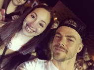 """What a babe 😍 Still can't believe this happened tonight! @derekhough 💙 #MoveBeyond #dwts #MoveLiveTour #dancingwiththestars #derekhough"" - Move Beyond - Rochester, New York - April 26, 2017 Courtesy larissanicole95 IG"