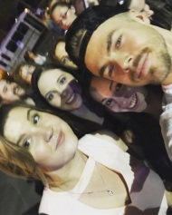 """I think it's safe to say, it was a very good #girlsnight with @sarah_reynolds0620 and @danielleemorgan 😍😍😍 @derekhough #MoveLiveTour #MoveBeyond #dwts #dancingwiththestars"" - Move Beyond - Rochester, New York - April 26, 2017 Courtesy larissanicole95 IG"