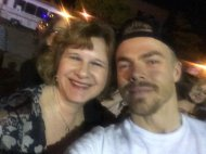 """My mom met Derek Hough tonight and I shed a couple tears when she sent me this"" - Move Beyond - Rochester, New York - April 26, 2017 Courtesy laurenn_worthyy twitter"