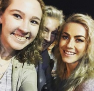 """I can't believe that I just met Julianne and Derek Hough at the #movebeyondliveontour 😍🤗 best pre graduation present ever!!🎉🎉"" - Move Beyond - Rochester, New York - April 26, 2017 Courtesy marissaamcknight IG"