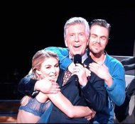 """A Double Hough Hug! 😉 @juliannehough & @derekhough gave a powerful preview of their new tour on 2nite's @DancingABC https://moveliveontour.com/"" - April 3, 2017 Courtesy Tom_Bergeron twitter"
