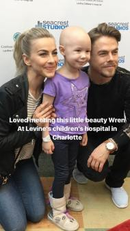 Derek and Jules at the Levine Children's Hospital at Charlotte, North Carolina - May 10, 2017 Courtesy juleshough IG