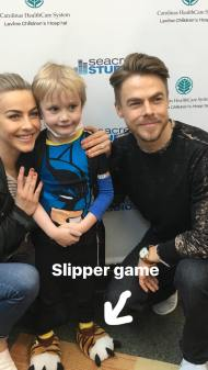 Derek and Jules at the Levine Children's Hospital at Charlotte, North Carolina - May 10, 2017 Courtesy derekhough IG