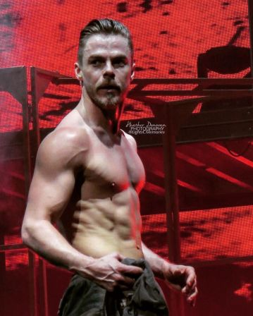 """Does Derek wear a shirt? @derekhough @wearefaculty #movebeyond #movebeyondtour #dwts #derekhough #doesderekeverwearashirt #facultyproductions #move"" courtesy lightscmemories ig"