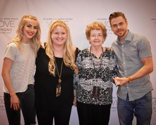 """""""Took my Grandma to see Derek & Julianne Hough for her 85th Birthday!! It was such an honor to meet these two incredible human beings!! 💕🙌🏼 @juleshough @derekhough #movebeyondtour #movebeyond #juleshough #juliannehough #derekhough #dancingwiththestars #meetandgreet #vip #movebeyondtourraleigh"""" courtesy tswiftborn1989 ig"""