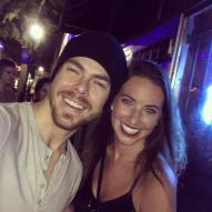 """Miracles happen once in a while when you believe 😍💃🏻🙌🏽😂 @derekhough #FanGirlMoment #ItsDerekHough #HeTookHisShirtOff #Blessed #moveliveontour #MoveBeyond #Jacksonville"" courtesy kmcdaniel823 ig"