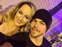 """With @derekhough after the show #moveliveontour"" courtesy susannahj_ ig"