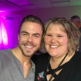 """wasn't giddy at all! 😉 #derekhough #peacelovehough #movebeyondvip #backstagewithderek #beautifulsoul #movebeyondliveontour"" courtesy mandymoe11 ig"