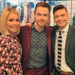 """Repost from @livekellyandryan #derekhough #worldofdance"" Courtesy happyhough05 ig"
