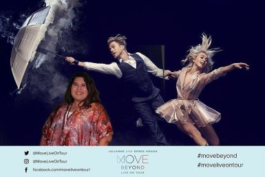 """Loved getting to see @juleshough and @derekhough #movebeyond #moveliveontour"" Courtesy missevacantu ig"