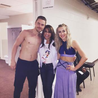 """#FridayFeeling ...moved!@derekhough & @juliannehough thank you for a gorgeous performance. It was AWESOME seeing you! Wishing you & your cast continued success!!! 😘❤️😘 xoxoP #MoveBeyond ‬. . . #paulaabdul #derekhough #juliannehough #dancers #neworleans #louisiana #liveperformance"" Courtesy paulaabdul IG"