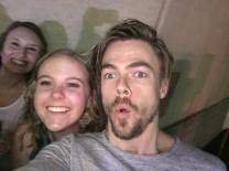 """HBD @derekhough ❤ thx for the first selfie of the night! & s/o to cute molly kate for making this picture perfect! 5•17•17"" courtesy sammartinusen ig"