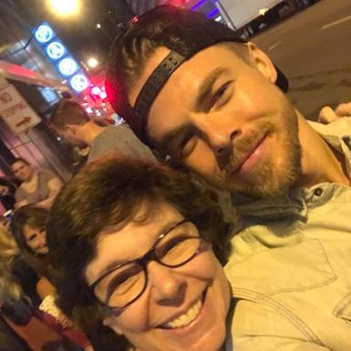 """""Oh, you're filming? Jump in honey."" Thank you #derekhough for being so nice. Great show!!!"" Courtesy sect115 ig"