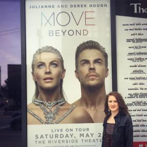 """I laughed, I cried, I loved every single second and want to do it all again. Thank you to my mama for fulfilling my fangirl dreams and thank you to Julianne, Derek and their incredible dancers for an amazing night and reawakening this dancer's heart. #moveliveontour #dance #motionisemotion #inspiration #thankful #nooneshouldbethattalented #icant"" bananapants112 ig"