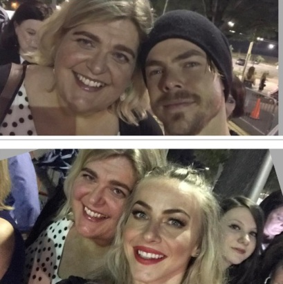 """@juleshough @derekhough you are so amazing!!! The show is phenomenal and you guys rock my world. #movebeyond #derekhough #juleshough #grateful #happy #thanksforthehugs"" - Move Beyond - Charlotte, North Carolina - May 10, 2017 Courtesy andream1969 IG"