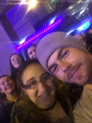 """""""I can't believe this just happened! Thank you so much @derekhough for an unforgettable night! I love you! So thankful I was able to go! 😍"""" - Move Beyond - New York - May 6, 2017 Courtesy SharnaSquad95 twitter"""