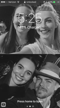 """Thanks to @derekhough and @juliannehough I now have the coolest lock screen!!! 😍❤#MoveBeyond #movebeyondlive"" Courtesy @ebomber94 tw"