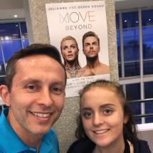 """Enjoying #movebeyond with @a.m.mohler. They are putting on a great show! #livevie #dance #movebeyondliveontour #derekhough #juliannahough"" Courtesy mohlercoaster ig"
