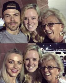 """Oh you know, just taking selfies with @derekhough & @juleshough! 😍 #moveliveontour #movebeyond"" Courtesy sd_photo ig"