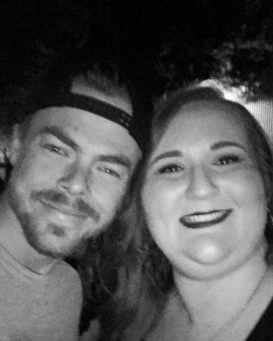 """""""Tonight I met this amazing man who inspires so many people (myself included) to do what they love and are passionate about. I can't thank you enough for being the advocate that you are for the arts and performers world wide. Thank you @derekhough for a phenomenal performance and for being so kind and caring to your fans. Much love! ❤️❤️❤️ #MoveBeyondLiveOnTour #MotionEqualsEmotion #Sacramento #ItHadToBeYou #WorldWideInspiration"""" Courtesy stephanieupton13 ig"""