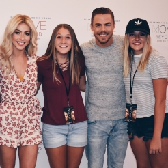 """sooooo, THIS JUST HAPPENED TONIGHT! Fist off, Derek Hough is officially my husband (DO NOT TRY TO TELL ME OTHERWISE) So save the date (August 2nd or 7th 2020 for our wedding😉) and Julianne is perfect (but who didn't already know that?) Sooo, shout out to @cierawhitt for having the hookups😉 because legit this show was unbelievable and they are the nicest most down to earth celebrities ever so pretty much this was one of the BEST NIGHTS OF MY LIFE😍☺️❤️"" Courtesy ellie.sand ig"