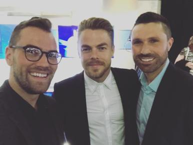 """DH in the house. #derekhough #epicwmtv"" Courtesy weathermanmyers ig"