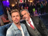 """""""Game faces: on! @fehertwit and I are ready to rumble. - @DerekHough #HGN"""""""